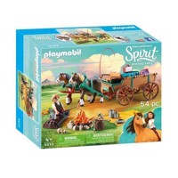 Playmobil Spirit 9477 Luckys Far og hestevogn