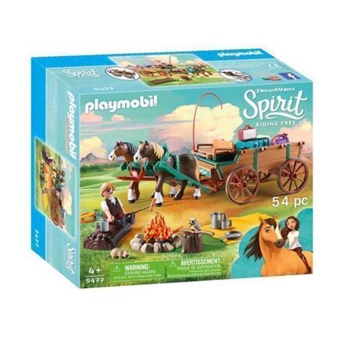 Image of Playmobil Spirit 9477 Luckys Far Og Hestevogn