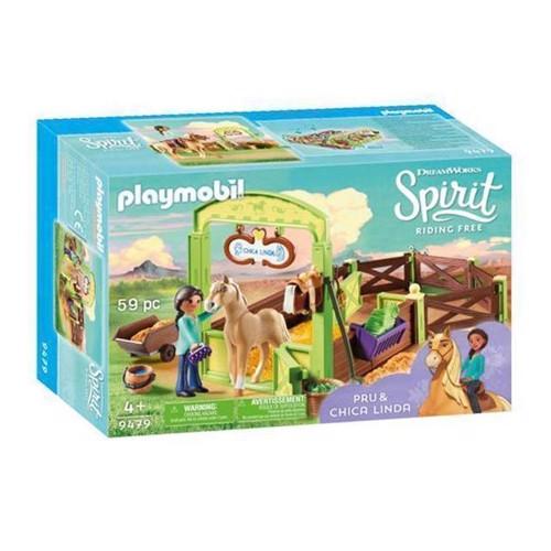 Image of Playmobil Spirit 9479 Hesteboks, Pru Og Chica Linda
