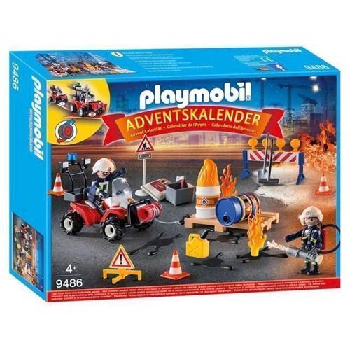 Image of Playmobil 9486 Julekalender rednings aktion ved brand på byggepladsen (4008789094865)