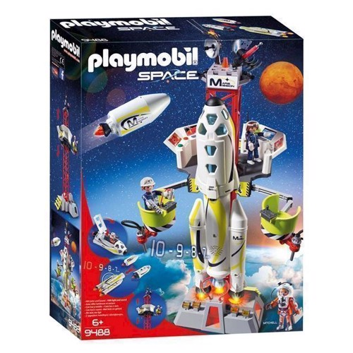 Image of Playmobil 9488 Mars Raket Med Affyringsrampe