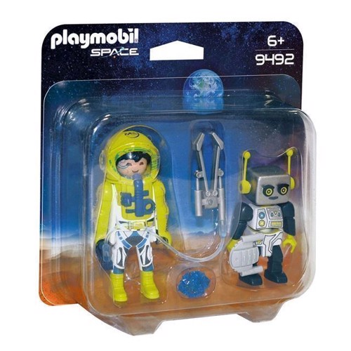 Image of Playmobil 9492 Duopack Astronaut Og Robot