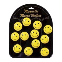 Smiley magneter, 12 stk