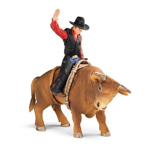 Image of Schleich Special - Cowboy med rodeotyr (4055744017926)