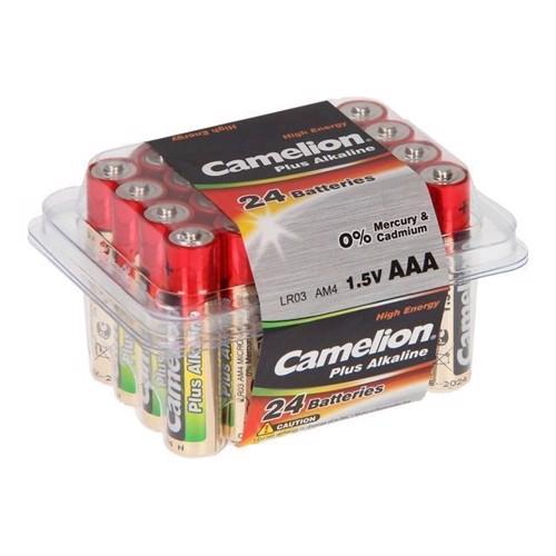 Image of Camelion Plus Batteri Alkaline AAA / LR03, 24 stk (4260033150462)