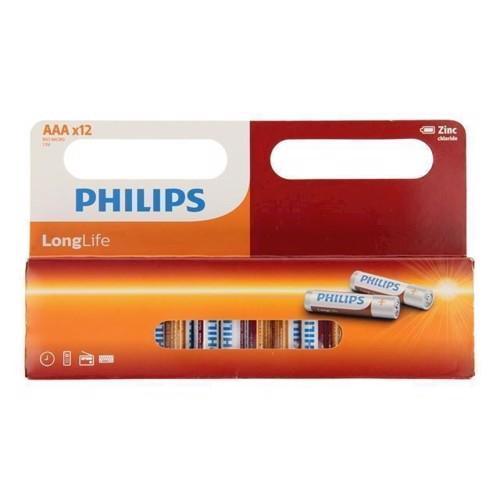 Image of Philips Longlife Battery Zinc AAA / R03, 12pcs. (4895185623603)