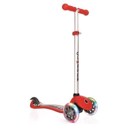 Image of   Globber løbehjul med lys, rød