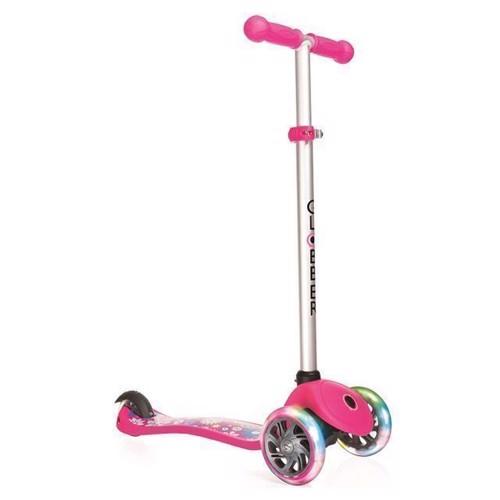 Image of   Globber løbehjul med lys, pink