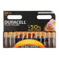 Duracell Plus Power Duralock Alkaline AA / LR6, 12 stk