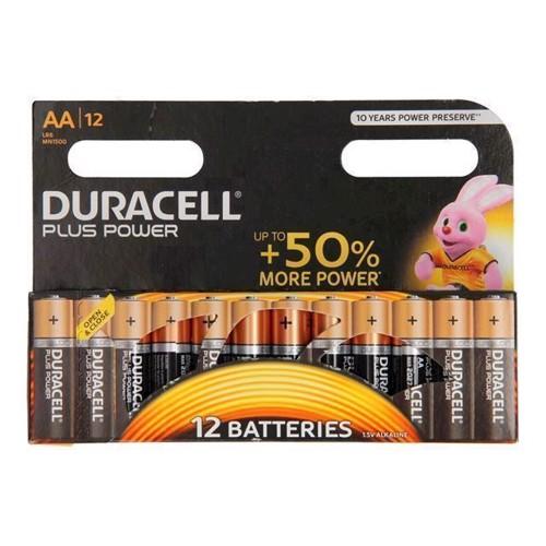 Image of Duracell Plus Power Duralock Alkaline AA / LR6, 12 stk