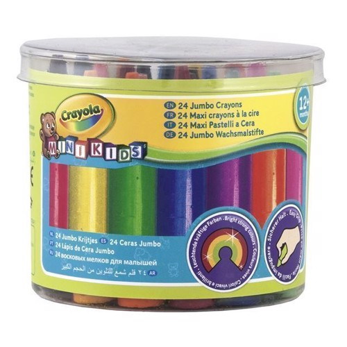 Image of Crayola Mini Kids, tykke farvekridt, 24 stk