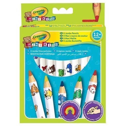 Image of Crayola Mini Kids, tykke farveblyanter 8 stk