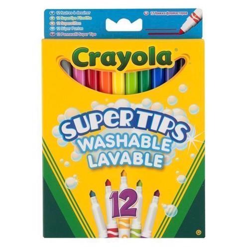 Image of   Crayola supertips, tusser, kan vaskes ud, 12 stk
