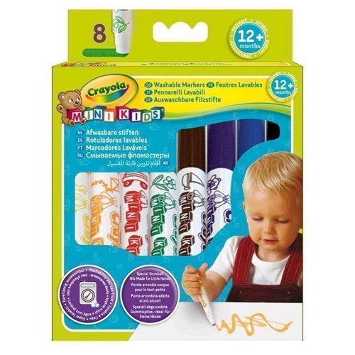 Image of Crayola Mini Kids, tusser, 8 stk (5010065083240)