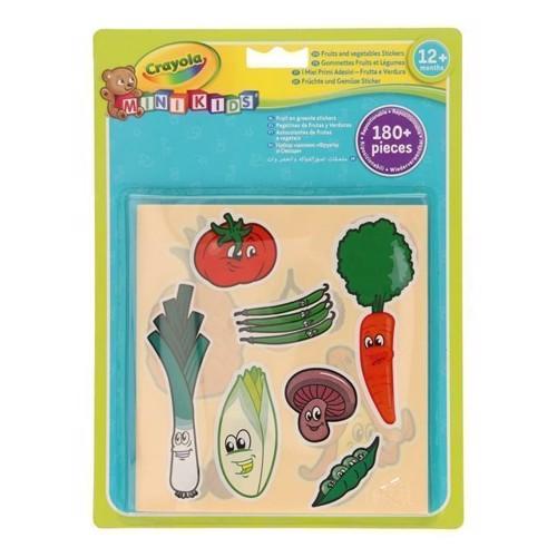 Image of   Crayola Mini Kids, klistermærker med frugt og grønt