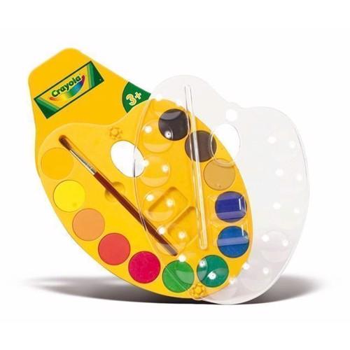 Image of   Crayola, male palette med vandfarver