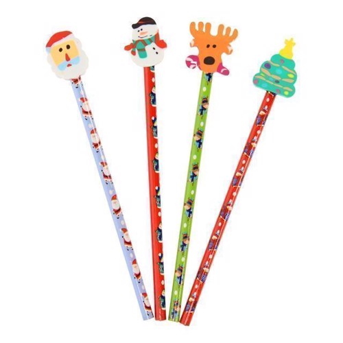 Image of Jule blyanter med viskelæder, 4 stk (5012128522161)