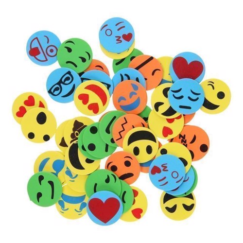 Image of   Emoji skum klistermærker, 50 stk