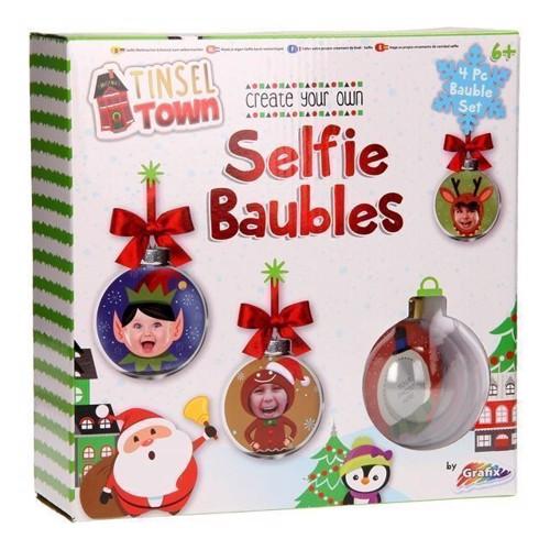 Image of   Lav dine enge selfie julekugler, 4 stk