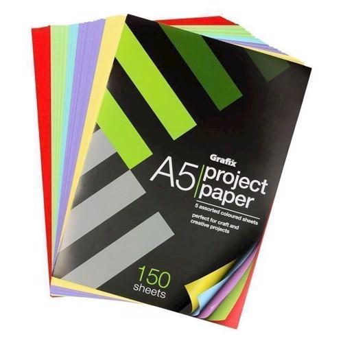 Image of   A5 farvet papir 140 sider