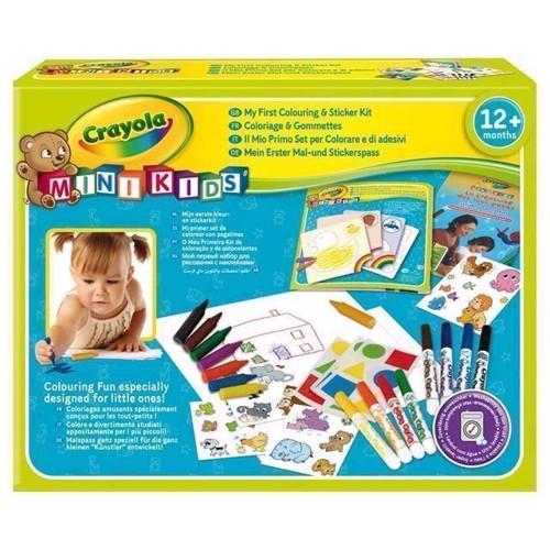 Image of   Crayola Mini Kids, tegnesæt med klistermærker