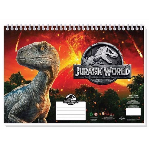 Image of   Jurrasic World A4 malebog med klistermærker