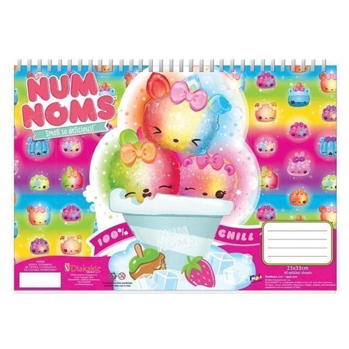 Image of Num Noms notesbog A4 med klistermærker