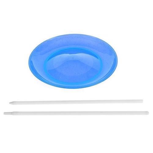 Image of Jongler tallerken med pind, blå