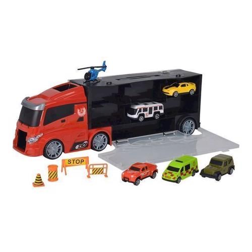 Image of Lastbil med biler i kuffert (5413538101159)