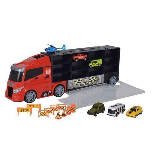 Image of Lastbil med biler i kuffert (5413538101166)