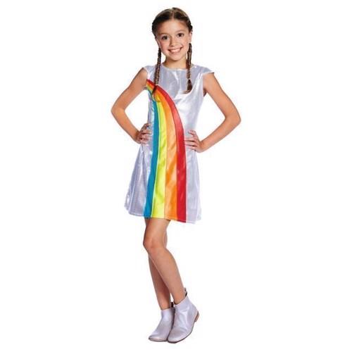 Image of   Udklædning, K3 regnbuekjole, 6-8 år