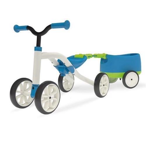 Image of Chillafish Quadie løbecykel med trailer, blå