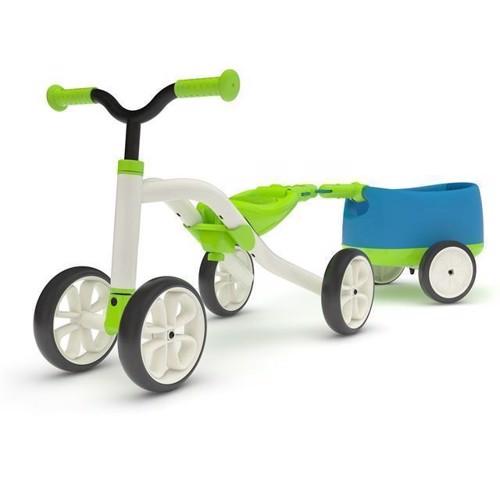 Billede af Chillafish Quadie løbecykel med trailer, grøn
