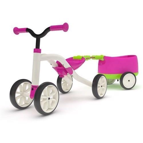 Billede af Chillafish Quadie løbecykel med trailer, pink