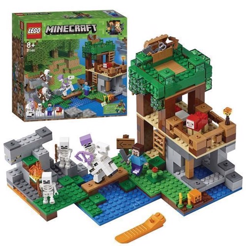 Image of LEGO Minecraft 21146 Skelet angrebet (5702016109641)