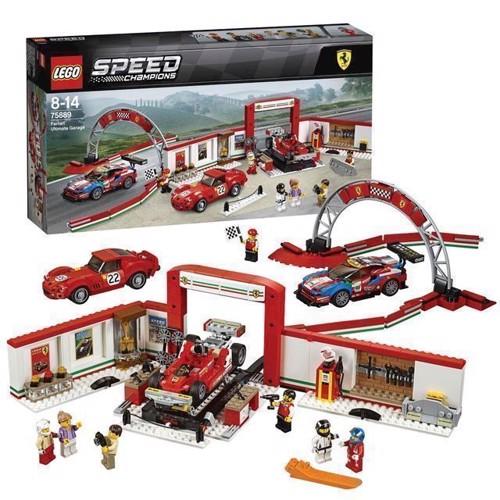Image of LEGO Speed Champions 75889 Ultimate Ferrari Garage (5702016110302)