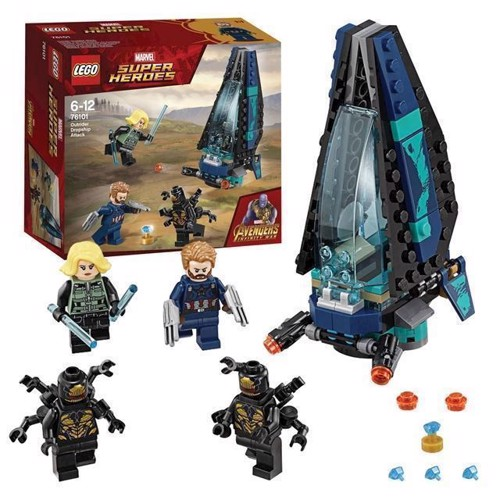 Image of LEGO Marvel Super Heroes 76101 Outrider shuttle attack (5702016110418)