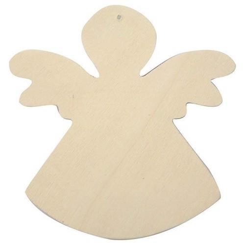 Image of   Dekorer engel i træ, 6 dele