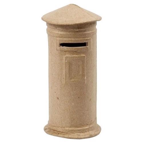 Image of Sparegris i papmache, postkasse (5712854033282)