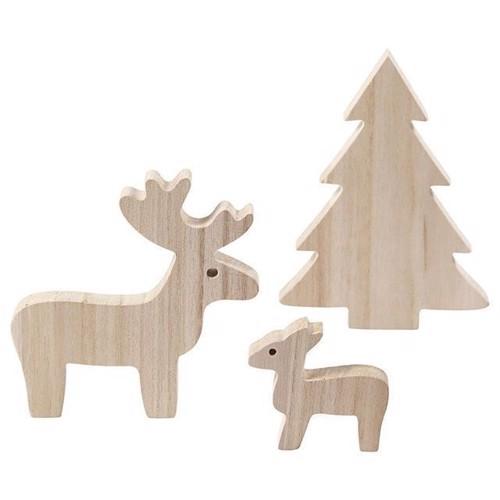 Image of   Rensdyr med juletræ i træ