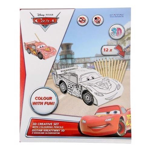Image of Byggesæt Cars set 3D i karton -til at bygge og farvelægge (5902012716014)