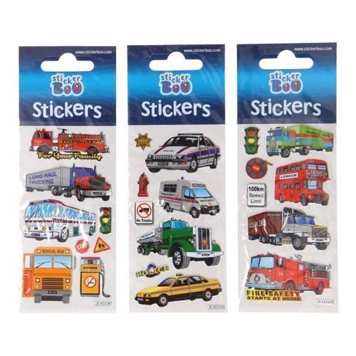 Image of   Klistermærker med køretøjer