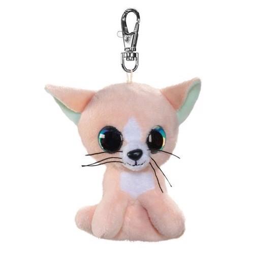 Image of   Lumo Stars bamse, katten Peach, nøglering 8,5 cm