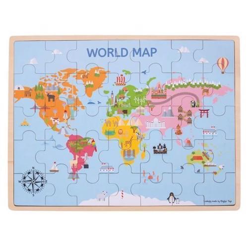 Image of Puslespil verdenskort 35 dele