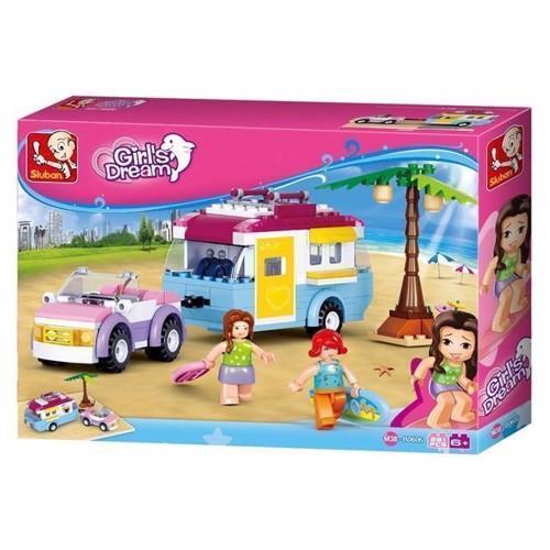 Image of Sluban Girls dream, bil med campingvogn (6938242953768)
