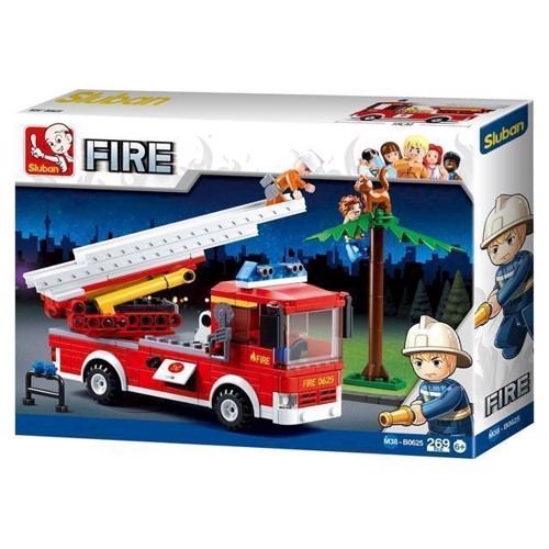 Image of Sluban fire, brandbil med stige (6938242953959)