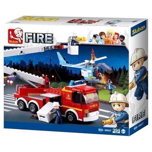 Image of Sluban fire, brandbil med helikopter (6938242953973)