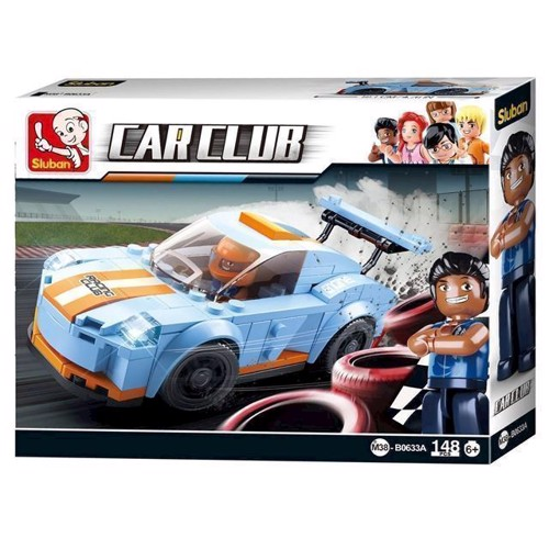 Image of Sluban Car Club Racer bil Leopard (6938242955038)