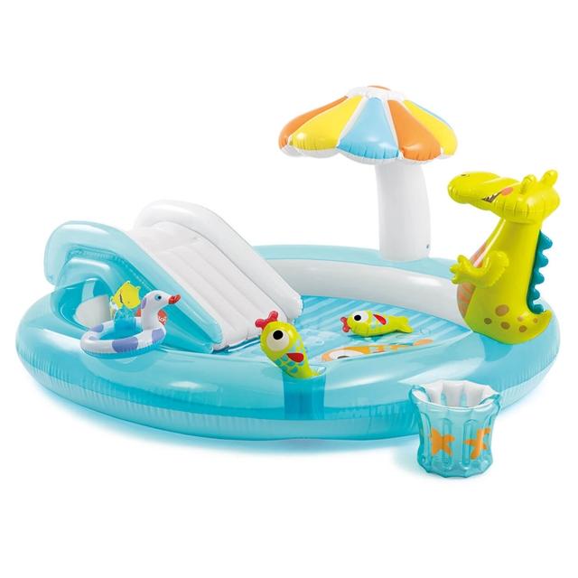 Smuk Badebassin, Intex Play Pool krokodille køber du billigt her. RZ-33