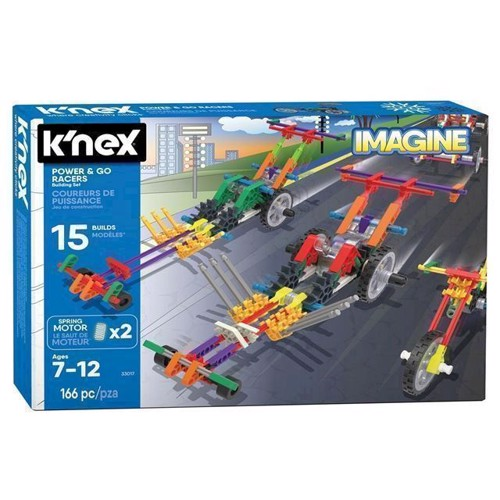 Image of Knex byggesæt, racer køretøjer, 166 dele (744476330178)